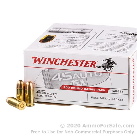 200 Rounds Winchester 45 Ammo Upc Code