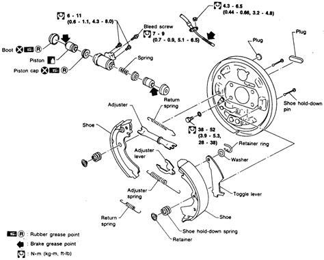2006 Nissan Sentra Hardware Spring Kit Rear Drum Brake Diagram