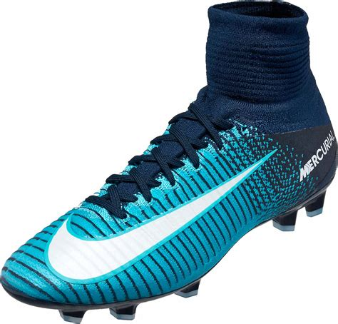 2018 Men's High Ankle Mercurial Superfly V Firm-Ground Soccer Cleats Red