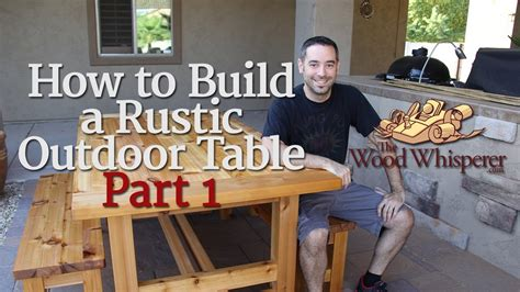 208 how to build a rustic outdoor table part 1 of 2 Image