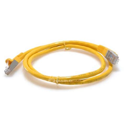 20ft Cat6 550MHz Bare Copper STP Shielded Ethernet Network Cable - Yellow by LinkCable