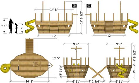 20ft Pirate Ship Plans