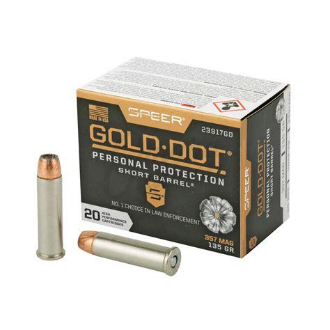 20rds 357 Mag Speer Gold Dot Short Barrel 135gr Hp Ammo