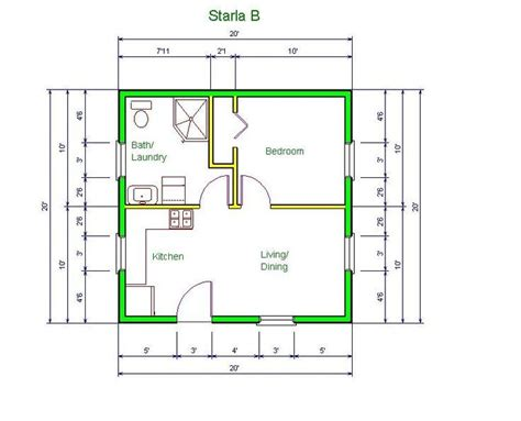 20x20 Garage Conversion Plans Drawings