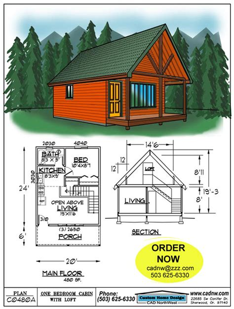 20x24-Cabin-With-Loft-Plans