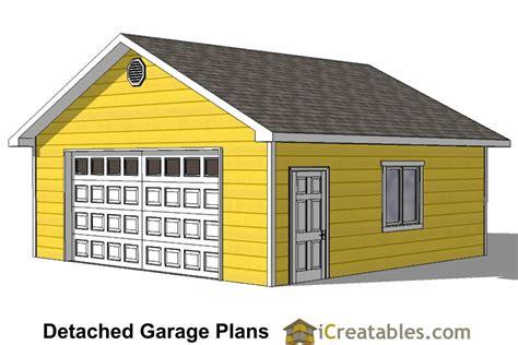 20x24 Detached Garage Plans Free