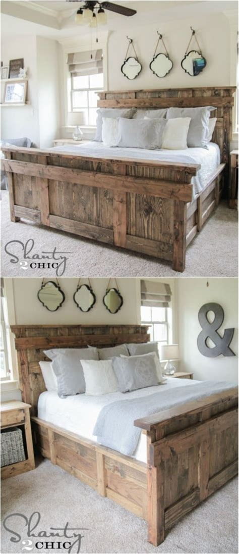 21 Diy Bed Frame Projects Rustic Style