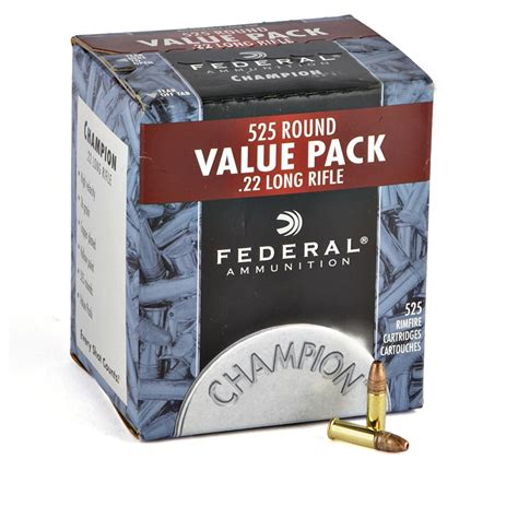 22 Ammo 525 Rounds Federal