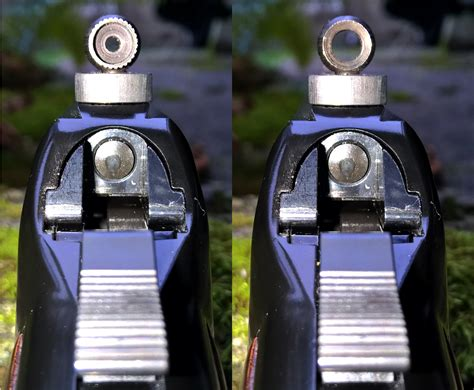 22 Competition Rifle With Peep Sights