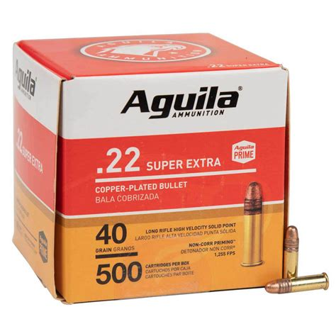 22 Long Rifle 40gr Copper Plated Round Nose 500