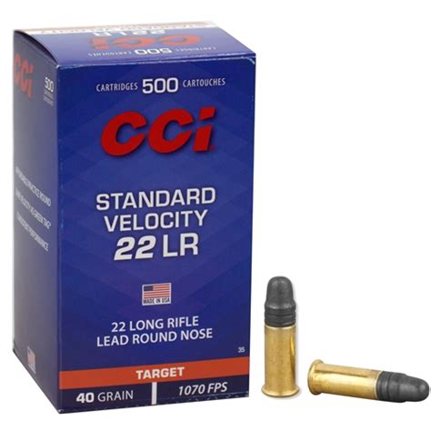 22 Long Rifle 40gr Lead Round Nose Cci Standard Velocity