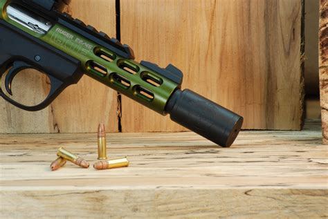 22 Magnum Rifle With Silencer