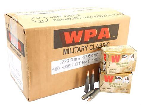 223 5 56x45 Ammo 55gr Fmj Wolf Wpa Military Classic 500
