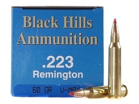 223 60 Grain Vmax Black Hills 50 Rounds Factory Reman