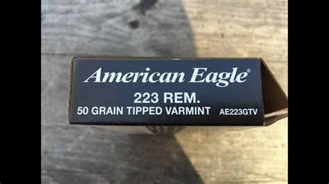 223 Remington 50gr Tipped Varmit American Eagle Ae223gtv Velocity Test And Recoil Spring Assembly Gen 4 Glock Ebay