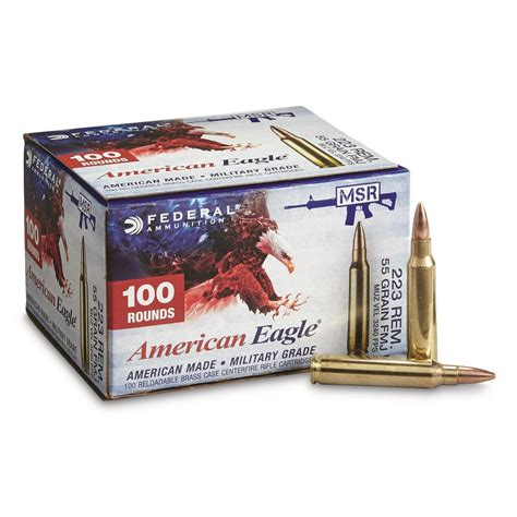 223 Ammo 100 Rounds Federal