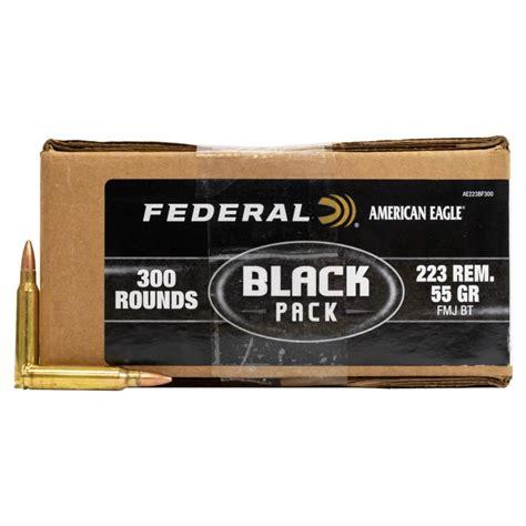 223 Ammo By Federal American Eagle Black