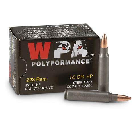 223 Remington 5 56x45 55gr Fmj Wolf Wpa Polyformance