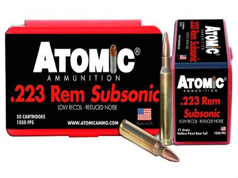 223 Subsonic Ammo Ballistics