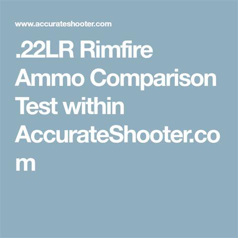 22lr Rimfire Ammo Comparison Test