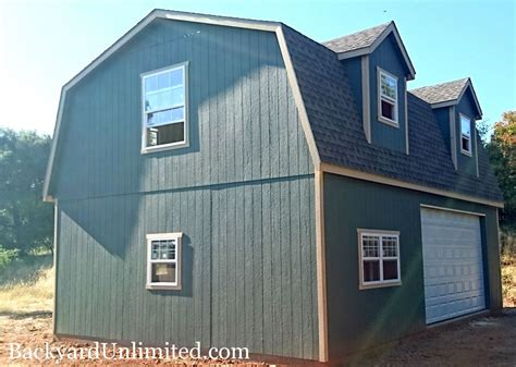 24 X 36 Garage Plans Doors On Eave Side Of A House
