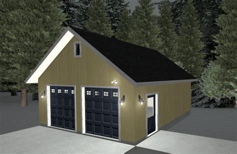 24x24 Garage Plans With Bonus Room
