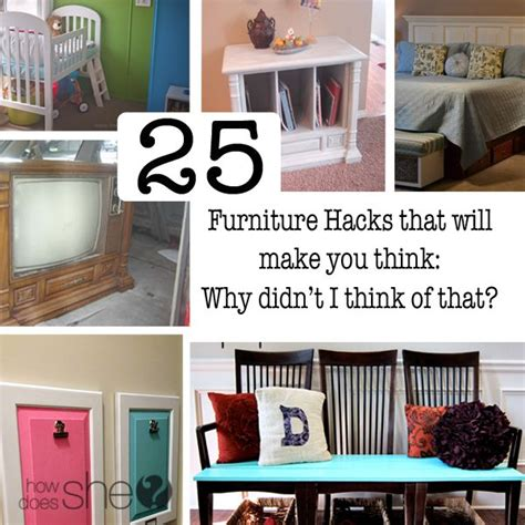 25 Diy Furniture Hacks