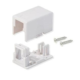 25 PACK CAT5E/CAT6 2 PORT KEYSTONE JACK SURFACE MOUNT BOX WHITE W/MOUNTING SCREWS & DOUBLE SIDED TAPE