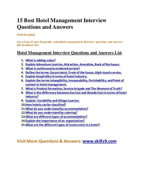 Hotel Management Housekeeping Resume | Cover Letter Template ...