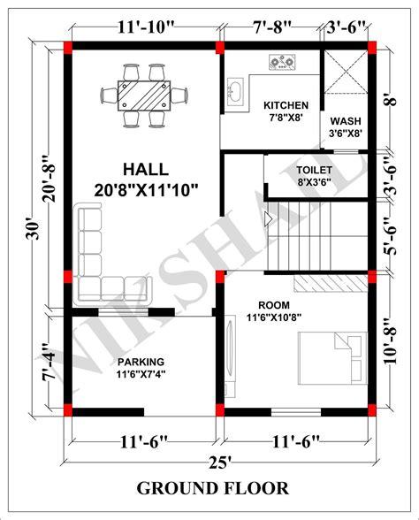 25x30-House-Plans-Free