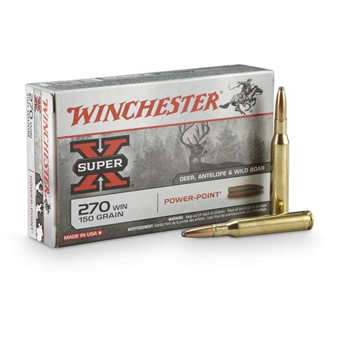 270 Win Ammo By Winchester Super X 270caliber Powerpoint