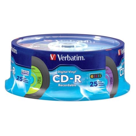 2CA7465 - Verbatim CD-R 80MIN 700MB 52x DataLifePlus Shiny Silver 100pk Wrap - Silk-screen Printable