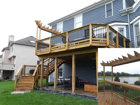 2nd Story Deck Plans With Pergola