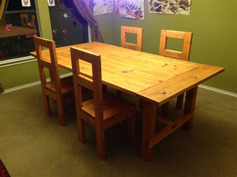 2x4 Dining Table Plans
