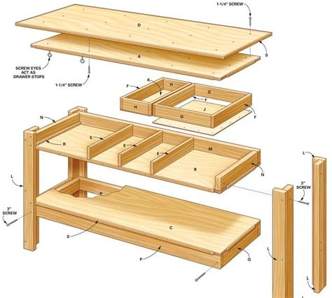 2x4 Workbench Plans With Drawers