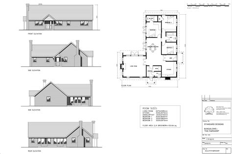 3 Bed Bungalow Plans UK