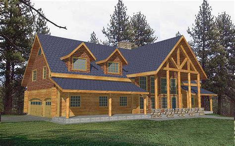 3 Bed Room 3 Bath Log Cabin Floor Plans