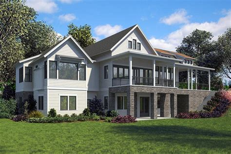 3 Bedroom Cabin Plans With Walk Out Front Garage Door