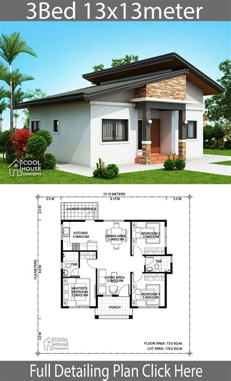 3 Bedroom Starter House Plans
