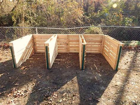 3 Bin Compost Plans Pallets