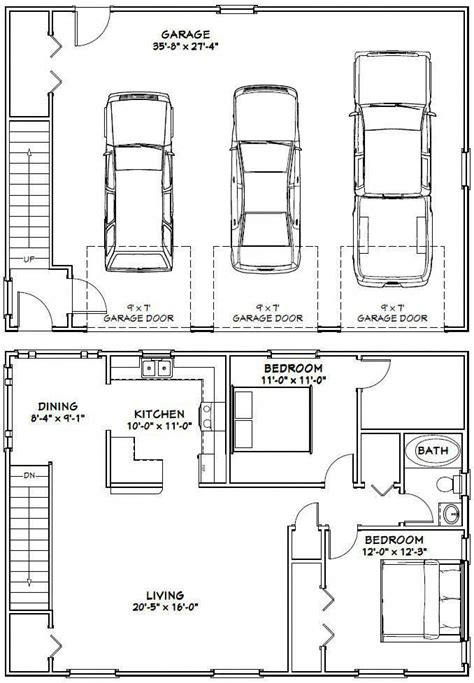 3 Car Garage Conversion Plans
