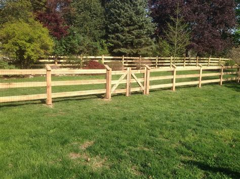 3 Rail Wood Fence Diy Insert