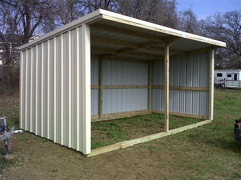 3 Sided Horse Shelter Roof Plans 12x24