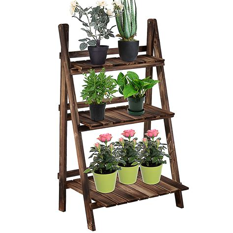 3 Tier Outdoor Wooden Plant Stand