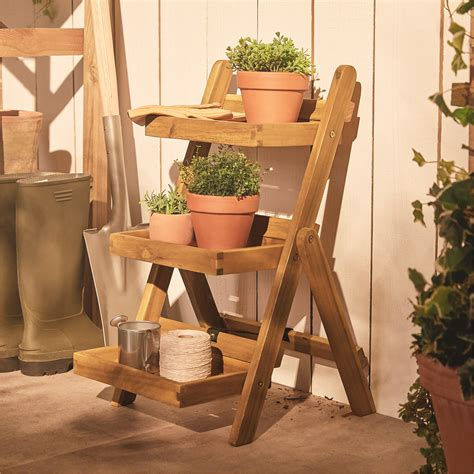 3 Tier Plant Stand Wood Plans
