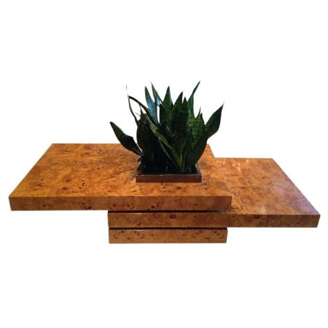 3 tiered burl wood coffee tables