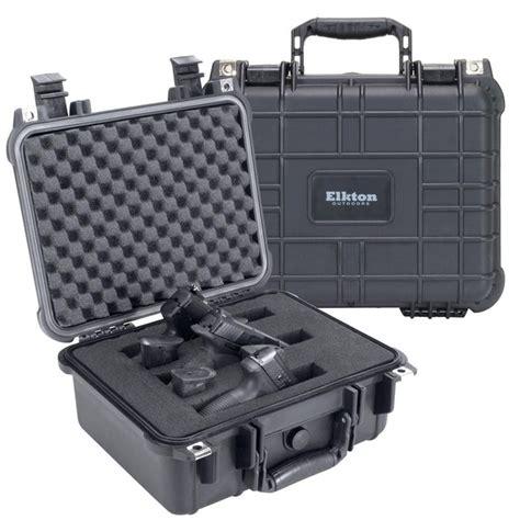 3 Pistol Handgun Gun Hard Case