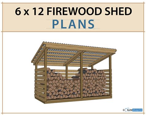 3-Cord-Wood-Shed-Plans