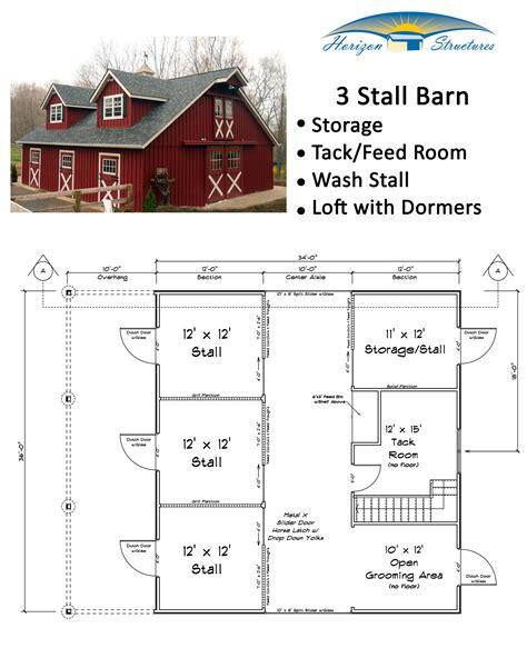 3-Stall-Horse-Barn-Floor-Plans