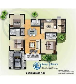 3 Bed House Plans Kerala